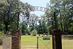 Gate to Hathorn Cemetery, Ashland, LA IMG 7116
