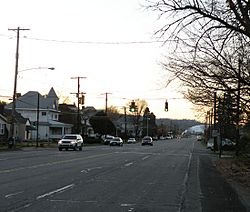 A view of Grand Avenue, Neville Island, Pennsylvania, on November 14, 2009.