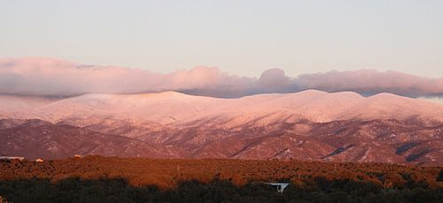 Sangre de Christo Mountains-Winter sunset