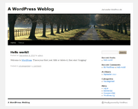 Screenshot-A WordPress Weblog with TwentyTen in Epiphany