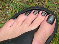 Toe nails black