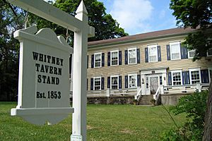 Whitney Tavern Stand - Front with sign