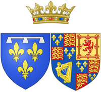Arms of Henriette of England as Duchess of Orléans