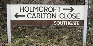 Crawley Colour-Coded Neighbourhood Street Sign - Southgate