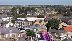 Looking north from St. Mary's church, Whittlesey