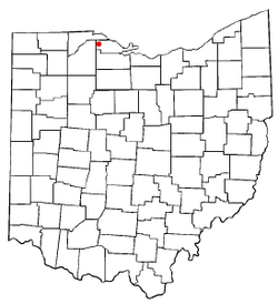 Location of Clay Center, Ohio