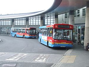 Buses in Park Lane Interchange - geograph.org.uk - 1748466
