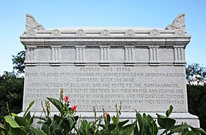 Civil War Unknowns Memorial - E side - Arlington National Cemetery - 2011.JPG