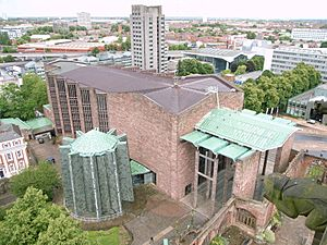 Coventry Cathedral -from above-8