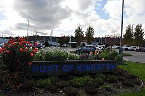 Kingston, WA - Port of Kingston sign 01