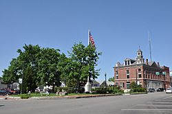 The center oval and town hall