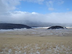 Valle Grande, Valles Caldera National Preserve, New Mexico, in winter