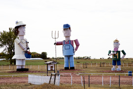 """The Tin Family,"" Enchanted Highway, Regent, North Dakota LCCN2010630884"