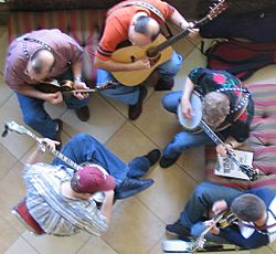 Bluegrass group jamming