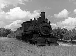 Locomotive for the old Cassville and Exeter Railroad