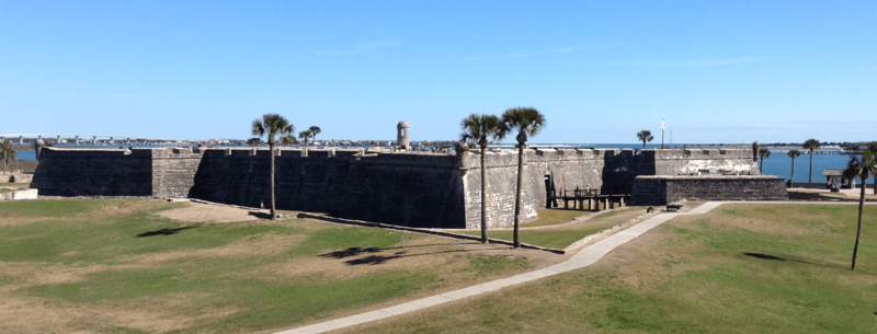 Castillo De San Marcos from the west, February 2012