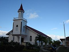 Maohi Protestant Church on Anau, Bora Bora