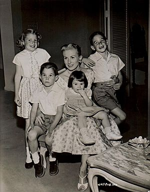 Marylou and children 1959