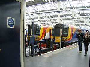 SWT Classes 444 and 450 at London Waterloo