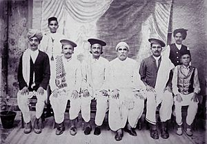 Vintage group photo of Indian Sindh people