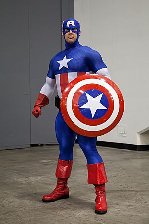 Captain America cosplay o