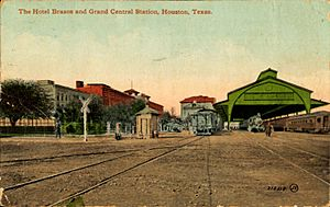 Hotel Brazos and Grand Central Station, Houston, Texas