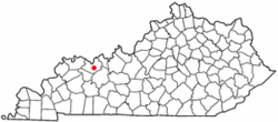 Location of Masonville, Kentucky