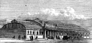 King's Cross Metropolitan Railway Station, Exterior, 1862