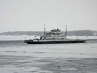 LCTC ferry Cumberland in winter 1