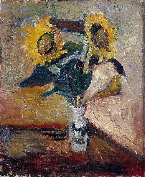 Matisse - Vase of Sunflowers (1898)