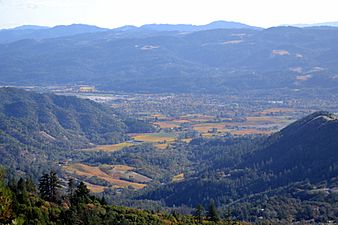 Northern Napa Valley viewed from Mount Saint Helena