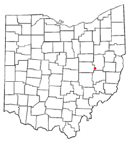 Location of Newcomerstown, Ohio
