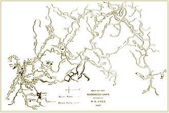 R.E.Call (1897) Map of the Mammoth Cave