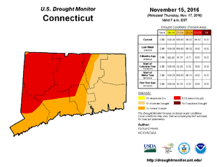 2016 Connecticut Drought Map