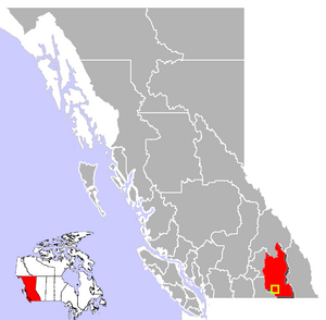 Castlegar, British Columbia Location