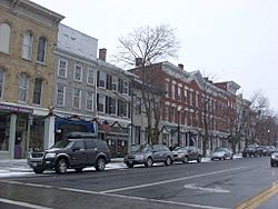 Downtown Cazenovia in Winter 2008
