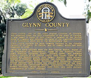 Glynn County, Georgia historical marker