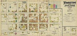 Tombstone fire insurance map 1888