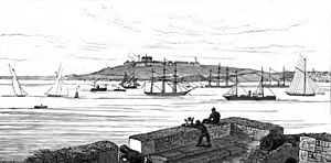 View from St Mawes Castle, 1875