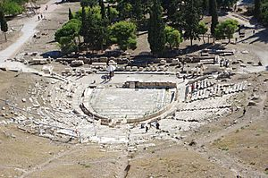 Athen Theatre of Dionysus BW 2017-10-09 14-29-49