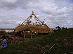 Barbury Castle - Iron Age house building