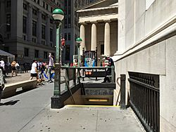 Broad Street - Exit at 23 Wall Street