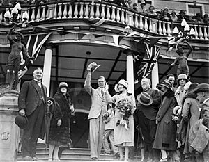 Duke and Duchess of York at the Carrington Hotel 1927
