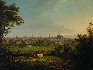 Joseph Rhodes - Leeds from the Meadows