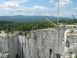 Rock of Ages quarry in Graniteville
