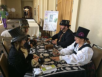 Steampunk tarot readings at the 2015 Salt City Steamfest