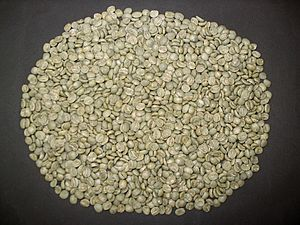 Unroasted coffee