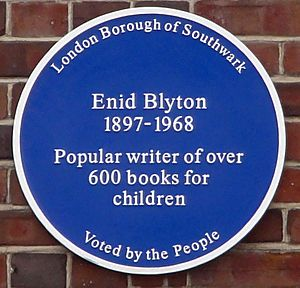 Blyton blue plaque