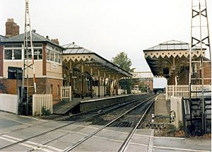 Hale railway station in 1988