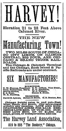 Harvey land for sale November 8, 1890 p. 10